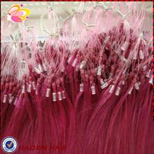 Virgin Remy human hair straight micro loop hair extension