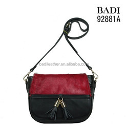 China leather bag manufacturer for bags with horse hair