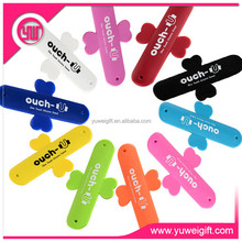 mobile phone accessories 2015 silicone phone holder & folding rubber touch U