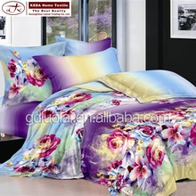 Home design bedsheet, fitted sheet, pillow cover 3d bedding quilt cover set