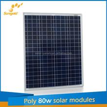 2015 High quality poly solar panel 80w 18v