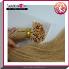 Charming wholesale european nail hair extensions virgin cheap u-tip hair extensions