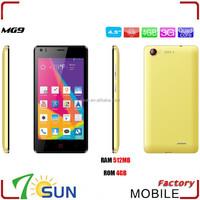 MG9 Quad Core Android 4.4 Dual Sim 4.5 inch 512Ram smartphone