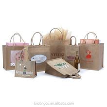 Custom Silk Screen Printing Jute Promotional Shopping Bag