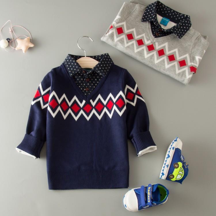 2016 mode b b gar ons facile tricoter motif chemises col crochet chandails pull pour hommes. Black Bedroom Furniture Sets. Home Design Ideas