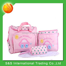 4pcs hot sell durable cheap baby diaper mummy bag