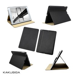 H&H ultra-thin silk pattern flip leather case with stand for ipad mini 2