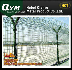 Airport fence/Galvanized/PVC coated wire mesh fence