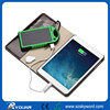 Solar mobile power bank 5000mah multifunctional Dual USB charge for cell phones