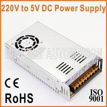 250W CE RoHS Approved 220V To 5V DC Power Supply S-350-5