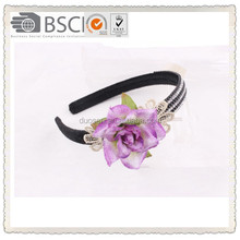fashion handmade with big flower ,bow hair band with flower