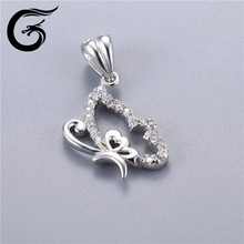 butterfly pendant custom charms factory-direct-sale-925-sterling-silver-jewelry