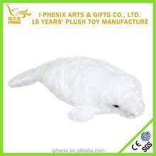 Custom Lovely Fluffy Plush Toy Seal Stuffed Sea Animal