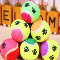Dog Toy Tennis Balls Run Fetch Throw Play Toy Chew Toys Color Randomly Pet