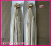 Factory price remy pre-bonded flat tip u I tip blonde fusion hair extension