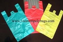 Vietnam shoping Vest carrier poly plastic bag