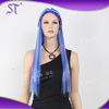 silky straight long colorful braided wigs for halloween or carnival party