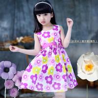 2015 summer girl dress wear new teen girls dress Huge amounts of hot style of design and color sleeveless princess