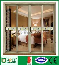 PNOC triple glazing aluminum profile sliding glass door with low price