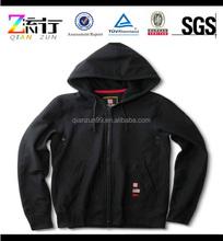 Thick Fleece Zip Up Hoodies/Plain Black Zip Up Hoodie/100% Cotton Zip Up Hoodies