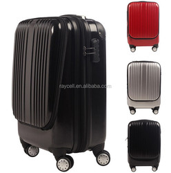 "Unique style 20"" inch travel luggage , laptop luggage bag , suitcase with latptop compartment"