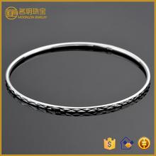 Cheap ostume jewelry fashion bracelets jewellery wholesale indian bridal pure solid sterling silver narrow plain bangle