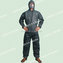 Disposable Type 5 Antistatic fire retardant strong liquid and particle barrier coverall