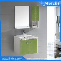 Mini wall hung PVC homebase bathroom cabinet
