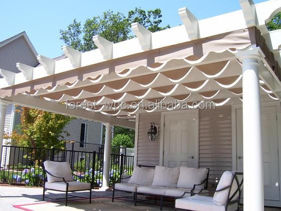 Tuin paviljoen prieel plat dak tuinhuisje luxe tuinhuisje bogen pergola 39 s pergola 39 s en brug - Pergola met intrekbaar canvas ...