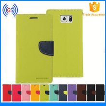 Free Sample Two Tone Leather Wallet Case Galaxy S6 Edge