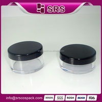 Hot sale empty cosmetic jars , 10g 20g plastic clear loose powder jar with sifter