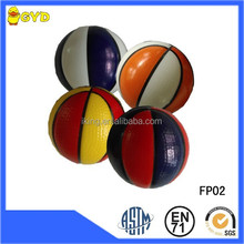 Wholesale PU foam anti stress colorful mini basketball