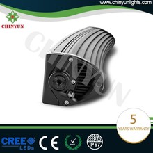 Curved double row strobe light bars black 200w small led light bar