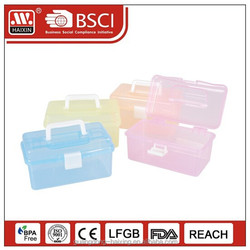 plastic storage case with handle/storage box with printing
