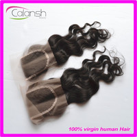 Brazilian virgin human hair products closure hair pieces for women black color natural wave wholesale price
