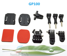 New Adapter of Tripod Set convert Mounts for Gopro 4/3/2/1 with 1/4inch connector Wholesale Gopro Accessories GP100