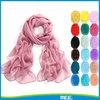 solid colour pure chiffon scarf