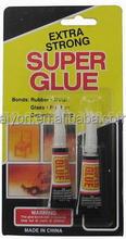 Super Glue set,instand bond glue,cyanoacrylate adhesive