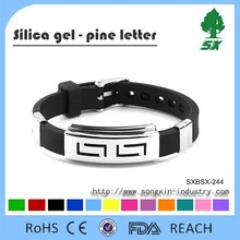 Luxury Top high quality fashion charm men luxury bracelet Anti skin allergy stainless steel and silicone