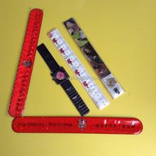 2015 Wholesale PVC reflective slap band,slap wristband,slap bracelet