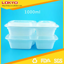PP disposable plastic food container 2 compartment