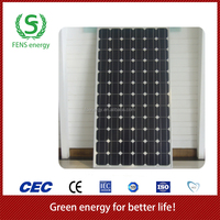 High quality 110w TUV/CE/IEC/MCS Approved Mono Crystalline Solar Panel Module