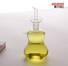 Clear glass oil cruet