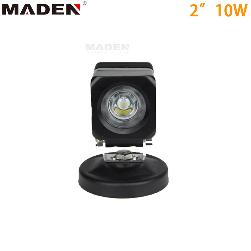 "2.5"" 10W Square CREE Motor bicycle Van Road ATV SUV LED Work Light Car LED Light Bar MD-2103"