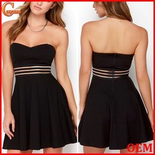 Wholesale strapless sweetheart bodice fashion dress/Charming dresses