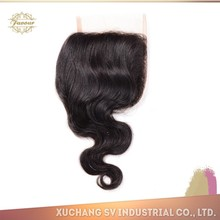factory price best selling factory price 100% human peruvian hair silk based lace closure