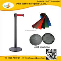 Hign quality handrail stanchion retractable queue stand