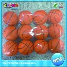 Good seling pu 6.3 cm custom basketball ball