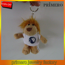PRIMERO 2015 fashion factory Animals jewelry cute and lovely crystal king lion plush toy small pendant the lion king keychain