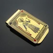 Custom gold epoxy zinc alloy money clip